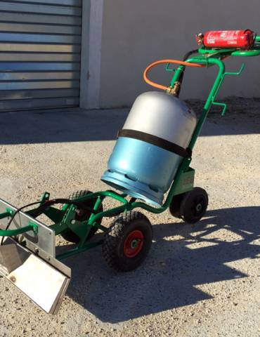 Chariot de désherbage Charoflam 600